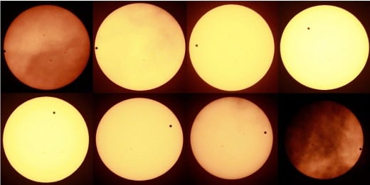 Supposedly these pictures prove that the Venus Transit went according to plan, you make the call!