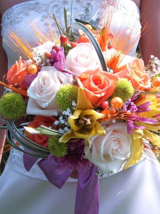 Hand-tied bouquets allow for a wide variety of options.