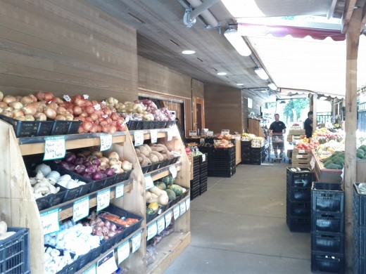 The grocery Store offers a wide range of local produce