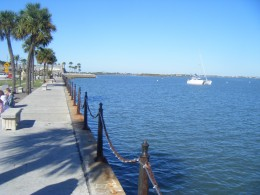 The bay at St.Augustine, the Castillo de San Marcos can be seen in the background. The historic city of St. Augustine is certainly worth a visit if you go to the beach, the city is the oldest continuously occupied settlement in the continental USA.