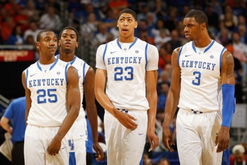 Kentucky star player #23 Anthony Davis and the rest of teammates all leaving early for the NBA draft.