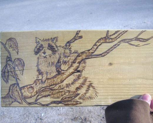 drawing after the woodburning
