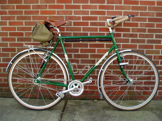 A typical man's single speed bicycle..