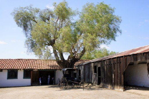 Outer Carriage Courtyard, Pepper Tree, Buggy, Black Smith