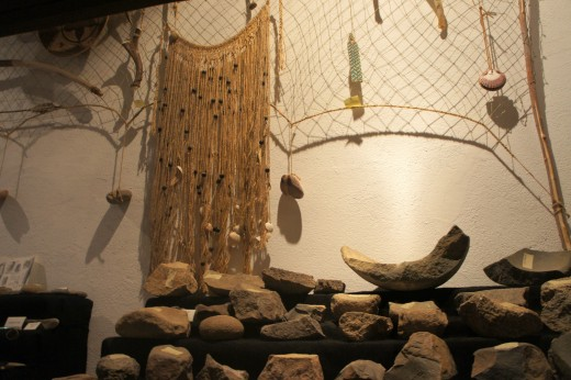 Luiseno Exhibit - Grinding Stones
