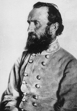 "Confederate General Thomas ""Stonewall"" Jackson, mortally wounded at Chancellorsville by his own men."