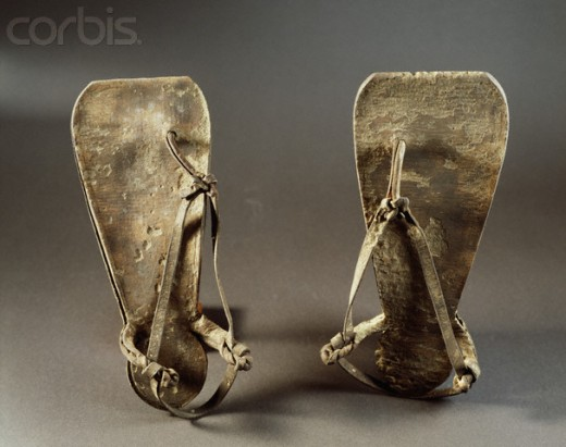 Egyptian workers' sandals, 2000 B.C