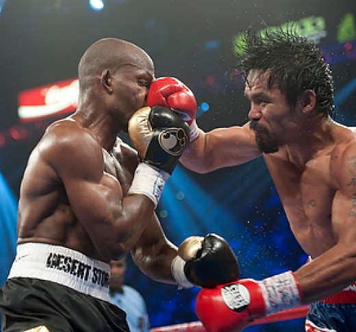 Bradley and Pacquiao on the ring