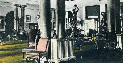 Sitting room at Tampa Bay Hotel (now UT)