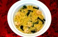 Shrimp Pasta with Sauteed Spinach Recipe