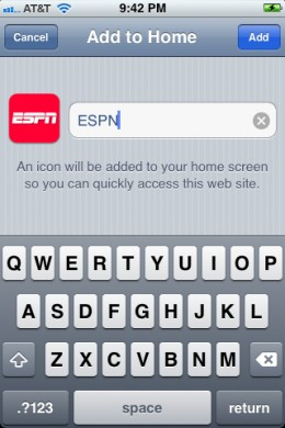 Enter the name for your custom app icon.