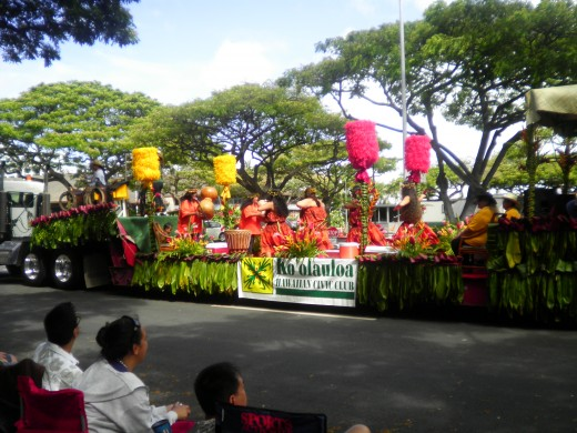 The Kamehameha Day Parade begins at ʻIolani Palace and ends at Kapi'olani Park in Waikiki.