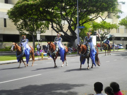 Pa'u riders are a traditional part of every Hawaiian parade