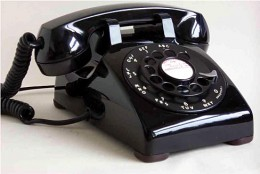 "Ah, that old ""dial"" telephone. And the noises it made while the dial spun. Memories!"