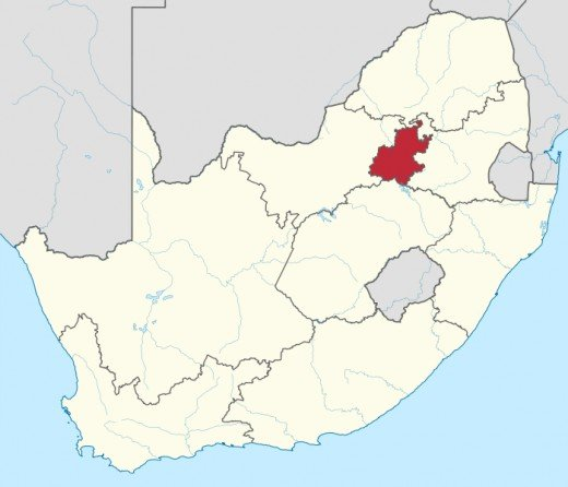 Johannesburg is in Gauteng, South Africa