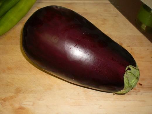 One enormous eggplant!