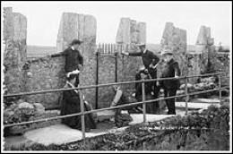 Kissing the Blarney Stone circa 1897