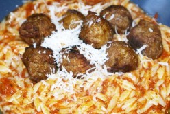 Meatballs and Marinara Orzo Pasta Recipe