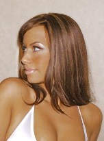 Amber Rose with Long Hair: Light brown wig