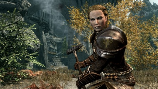 Judging by the background, this is an NPC you will likely meet when following the path of the Dawnguard.