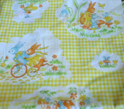 Vintage Children's Prints are very much sought after for clothing and quilts