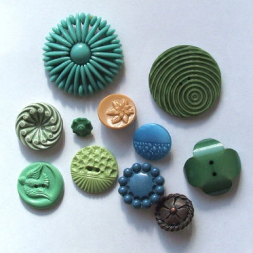 Colorful interesting old buttons like this can fetch premium prices online