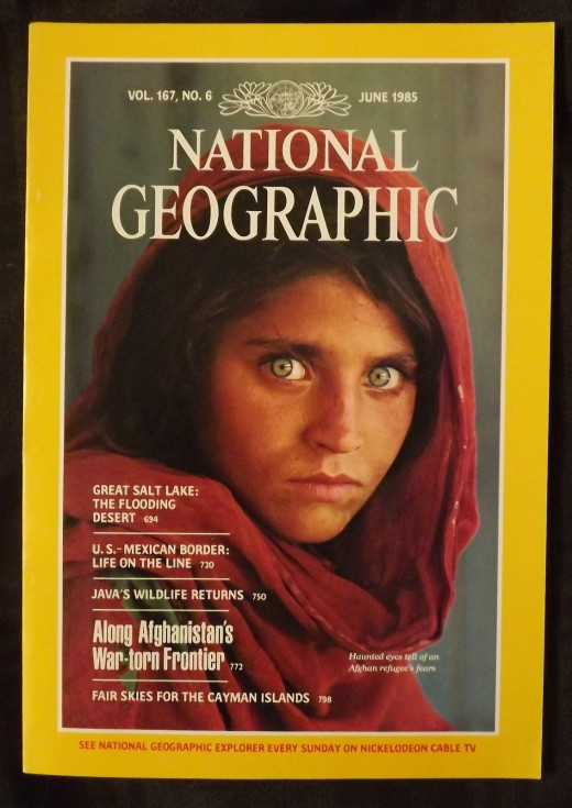 Afghan Girl with the Haunted--and Haunting--Green Eyes; National Geographic, June, 1985