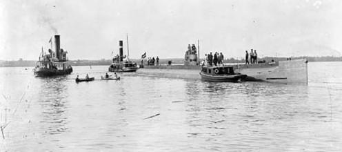 """WWI: """"Deutschland"""" in Baltimore Harbor-July 1916"""