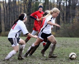 Now getting muddy playing soccer I can excuse.