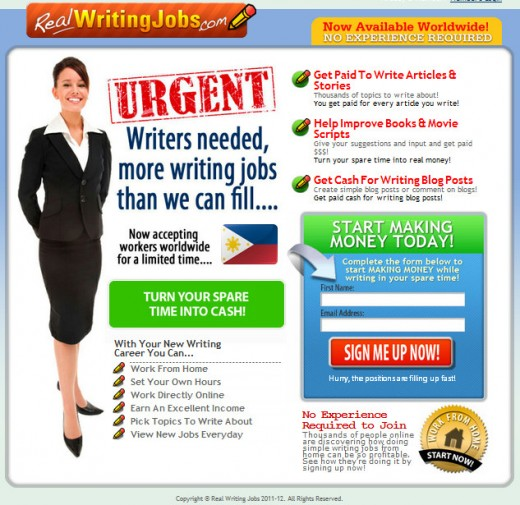 is real writing jobs a scam Realwritingjobscom is a website that's designed to help people find a variety of  writing jobs they claim to have a ton of leads and are simply acting as.