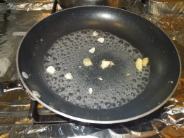 Boiling Water with Garlic and Ginger