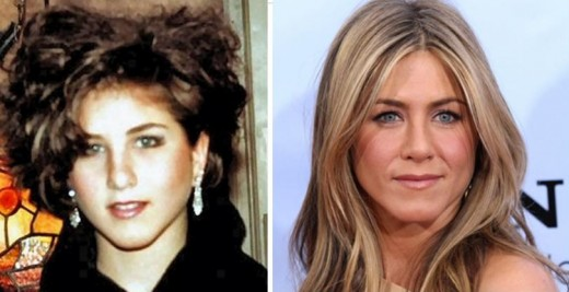 Celebrities with Colored Contacts. Jennifer Aniston Colored Contacts, Before and After.