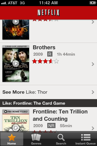 Tap the movie or show to view.