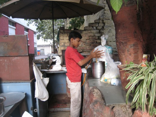 Lassi (buttermilk) to wash it down with