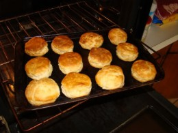 Fresh, Homemade Biscuits - Yum!