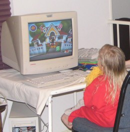 Young children may learn through computer games, but they do not need to be on the internet.