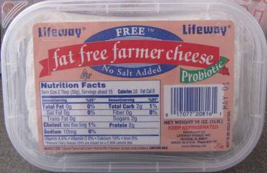 Farmer's cheese- available at most deli's and fruit markets.