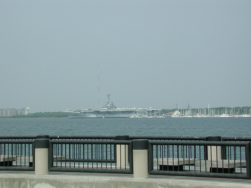 View from Waterfront Park of the Yorktown
