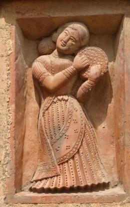 Badia dancer  with DAFLI; Lakshmi Janardan temple; Ghurisa
