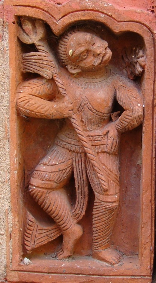 A Shaivite ascetic dancing with the trishul (trident); Dashghara