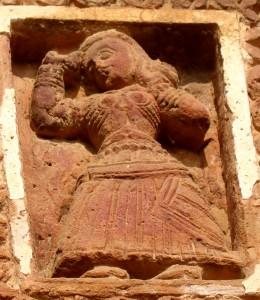 Seems to be a Kaththak dancer; Bansberia