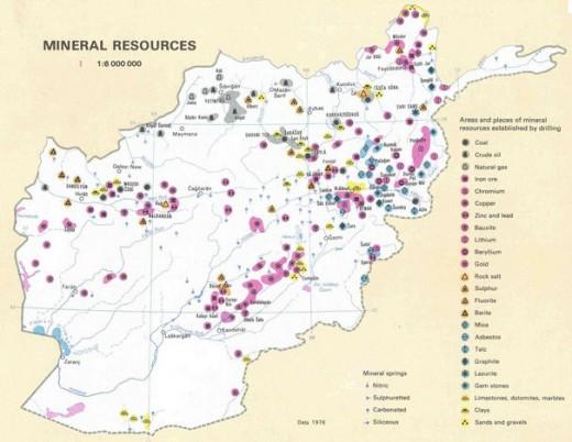 Minerals under Afghanistan