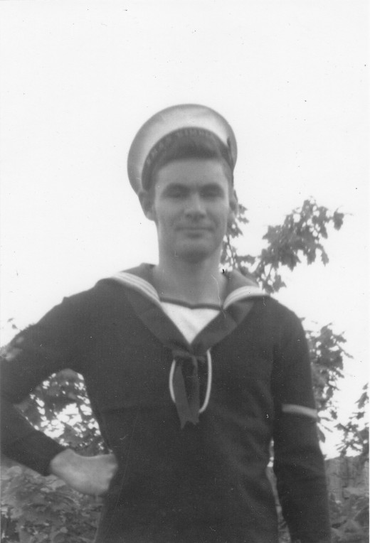 """Hullo, sailor!""  Yours truly just a few months before leaving the navy."