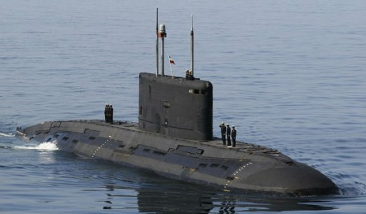 Iran's only diesel powered sub that is operational