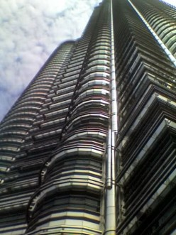 First Impressions of Kuala Lumpur, Malaysia. The KL Beach Club and the Petronas Towers