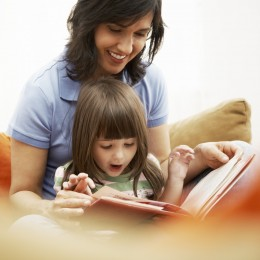 Reading with your child is a great way to bond.