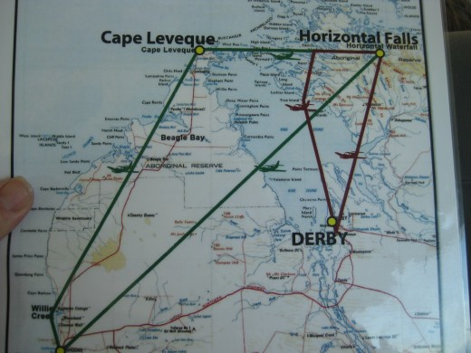Choose which way you want to go to the Horizontal Falls from either Derby or Broome.
