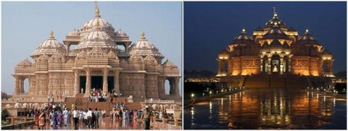 Akshardham Temple during d day n during evening time