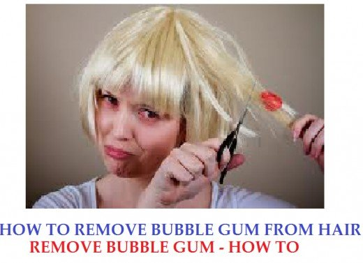 How to remove bubble gum from hair