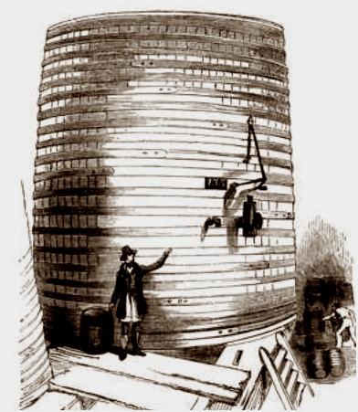 Oak and iron beer vat